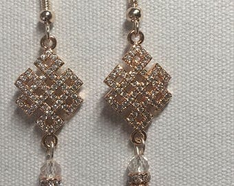Chinese knot chandelier earrings