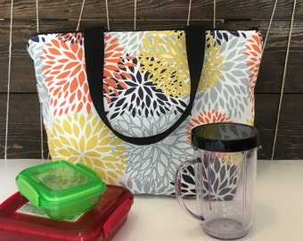 Lunch tote, insulated lunch kit, lunch bag