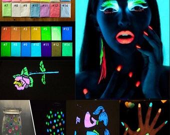 170g - 17   Color Luminous Nail Polish Powder Glow In The Dark Glow Powder Photoluminescent Dust Luminous Pigment Fluorescent Powder