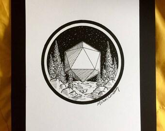 Floating Icosahedron Landscape
