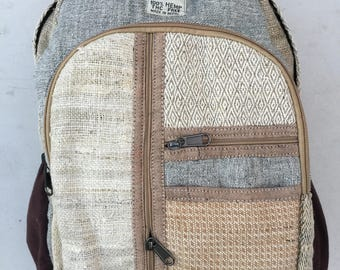 Hemp Backpack / Laptop Backpack / Camera Backpack / Boho Backpack / Camera Bag