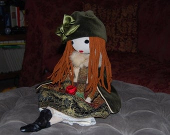 Cloth doll artistry, of cloth, collectibles, decorative Lulu '