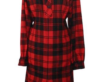 1990's Plaid Shirt Dress