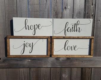 Faith Wall Decor love wall decor | etsy