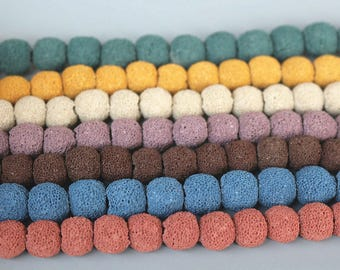 12mm Matte Round  Lava beads, 15 inch one strand  Mixed Color  Beads, DIY handmade beaded bracelet beads semi-finished products wholesale