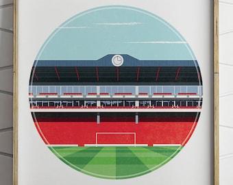 Arsenal fc, Highbury Print, Arsenal fc gifts, Football Art, Gift for Men, Soccer, Anniversary Gifts, Gift for Men