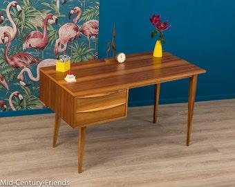 1950s desk, Hellerau, 60s, vintage (612022)