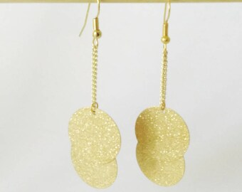 "ROUND GRANITES and GLITTER effect ""Stardust"" earrings"
