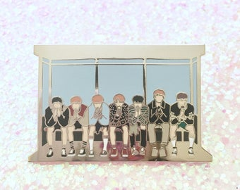 BUS STOP | 방탄소년단 BTS Wings You Never Walk Alone Group Concept Photo Enamel Pin