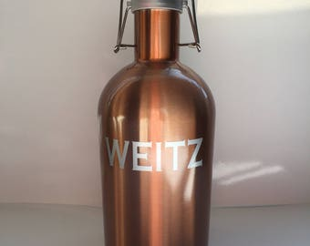 Personalized Stainless Steel Beer Growler - Groomsmen Gift - Bridal Party Gift - Grooms Gift - Father's Day Gift