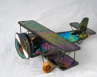 Handmade Stained Glass Bi-Plane Kaleidoscope