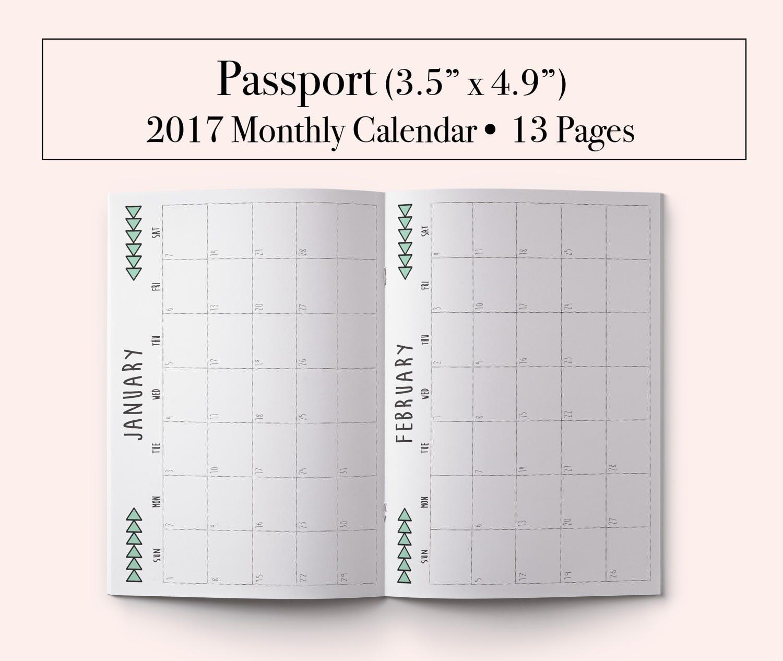 Midori Traveler S Notebook Calendar : Midori passport insert printable
