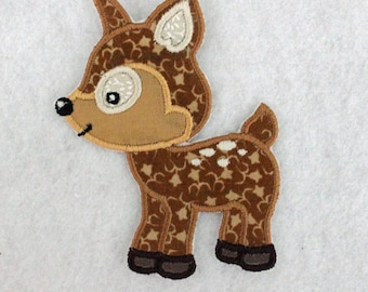 Baby Deer Patch, Fawn Patch, Deer Applique, Embroidered Fawn, Iron On Patch, Applique Patch, Embroidered Patch, Sew On Patch, Fabric Patch