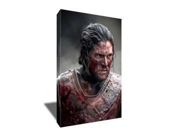 FREE SHIPPING Jon Snow King of the North Game of Thrones Canvas Art