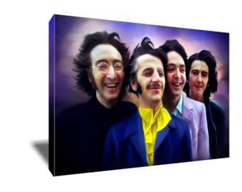 FREE SHIPPING Iconic Rock Band The BEATLES  Canvas Art