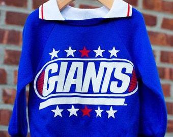 Boys Vintage Blue NFL  Giants Sweater Size 3t