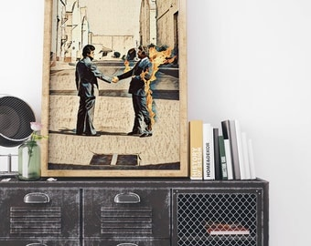 Pink Floyd Painting Poster Art Painting Print Canvas Print Music Poster Canvas Poster Design Wall Art Home Gift Rock Band Poster