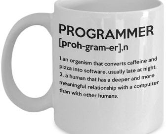 Programmer coffee mug for programmers