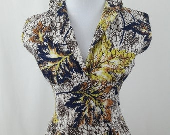 1960's Fabulous Fall Print Dress