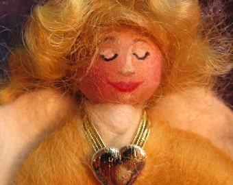 Wool fairy Guardian Angel, Christening gift, child's guardian, bereavement comfort doll