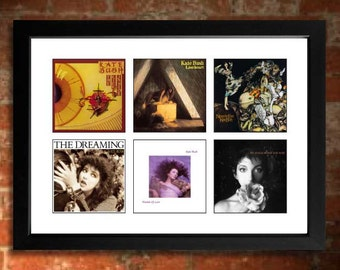 KATE BUSH Vinyl Albums Limited Edition Unframed A4 Art Print mini poster