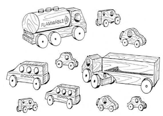 wagon and vehicles  911   craft pattern