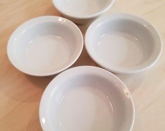 Cordon Bleu White Porcelain Relish Dishes - Set of 4