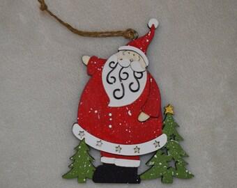 Hand Painted Christmas Ornament: Santa