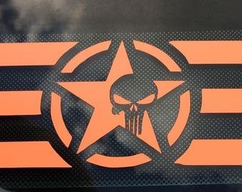 Punisher star stripes, custom made, hand made.