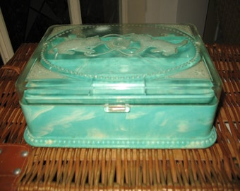 Small chest has couture vintage celluloid