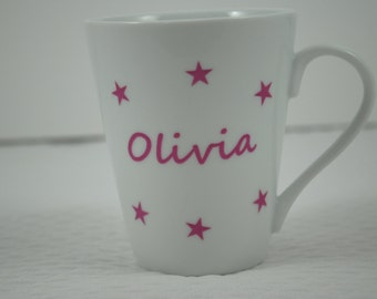 Mug personalized star Rose