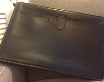 Hartmann Black Leather Envelope or Portfolio - SALE