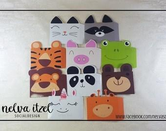 Kit mini envelopes animal, silhouette studio, cameo, animals envelope kit
