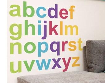 alphabet decals/alphabet sticker/alphabet peel stick/kids alphabet wallchild alphabet decal/baby alphabet mural/alphabet decal baby kids