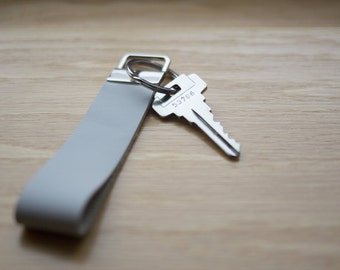Leather Key Fob; Keychain; Key Ring; Real Genuine Leather; Gift; car and purse accessories; customizable; gray; tan; brown; black, wristlet