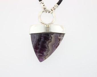 Purple Banded Agate Pendant