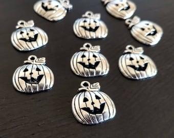 4 or 20 BULK Jack O Lantern | Halloween Charm | Pumpkin Charm | Pumpkin Pendant | Halloween Pendant | Ready to Ship USA | AS411
