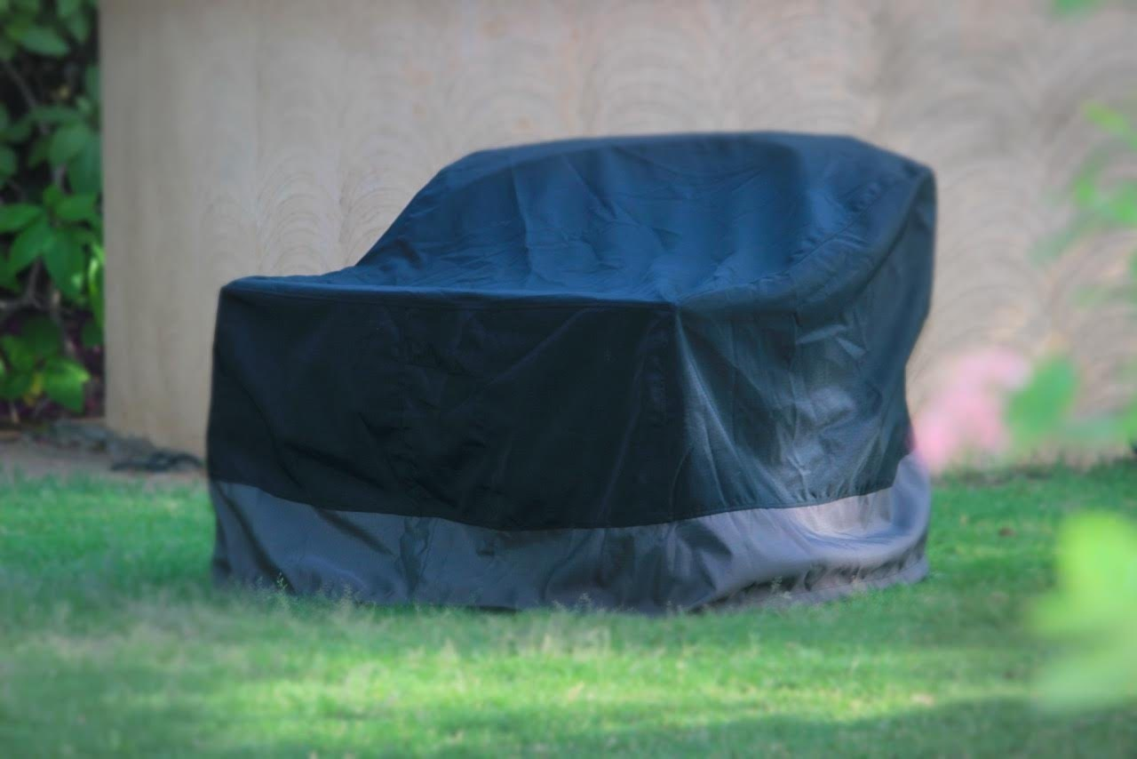 Lounge Patio Chair Cover Heavy Duty Waterproof Black and