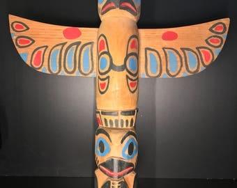Handcarved Tlingit Totem Pole