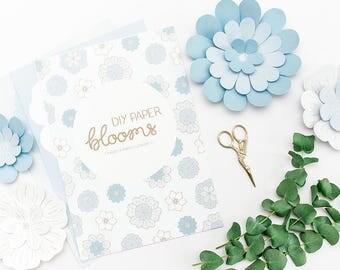 Blue DIY Paper Blooms Kit - DIY Paper Flowers