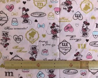 Minnie Mouse Fabric Made in Japan