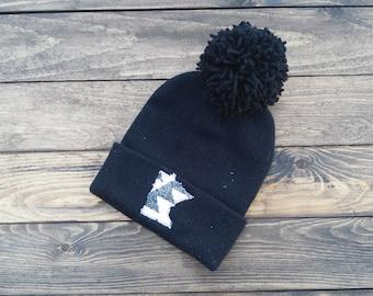 Minnesota State Winter Hat (Black)