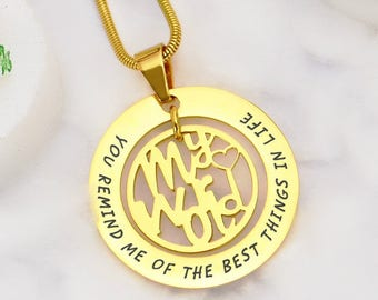 Personalised In My Life Necklace Gold ONLY 89