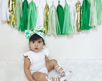 St. Patrick's Day Tassel Garland -> Gold,White,Willow,Kelly Green,Apple Green