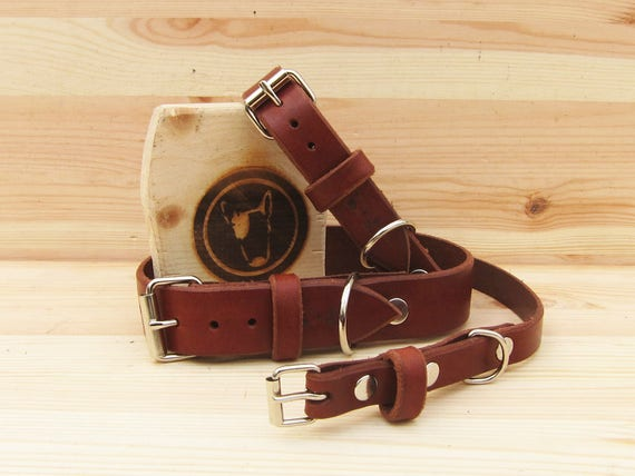 Brown Leather Dog Collar - Classic Collar for Small and Large Dogs - Gift Idea for Dog Lovers - Italian Handmade Pet Supplies - YupCollars