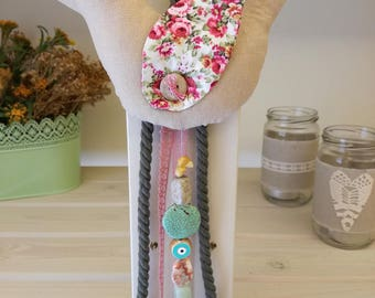 Baby Lucky Charm/Evil Eye Protection/Linen Fabric Bird/Newborn Gift /Baptism Gift/Baby Gift/Baby Shower Gift/Nursery Room Decoration