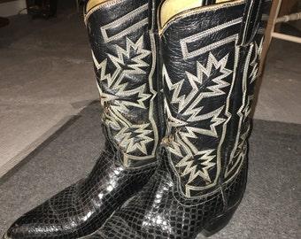 Cowboy boots Snake skin CatsPaw