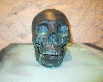 Copper Patina Skull