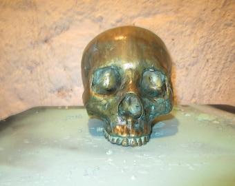 Bronze Patina Skull
