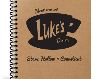 Luke's Diner Notebook - Gilmore Girls Gift - Stars Hollow Journal - Girlfriend Christmas Gift